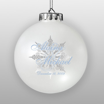 Personalized Wedding Favor Ornament