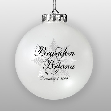 Custom Wedding Favor Ornament