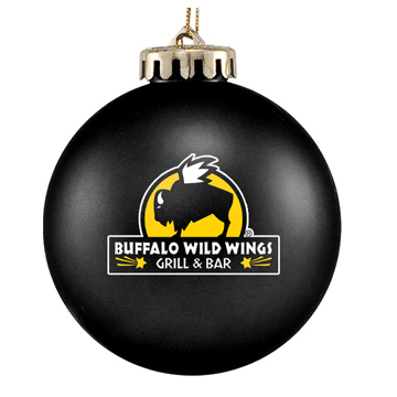 Black Custom Logo Ornament