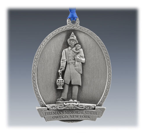 Custom Pewter Commemorative Ornament