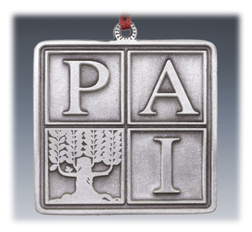 Custom Pewter Company Logo Ornament