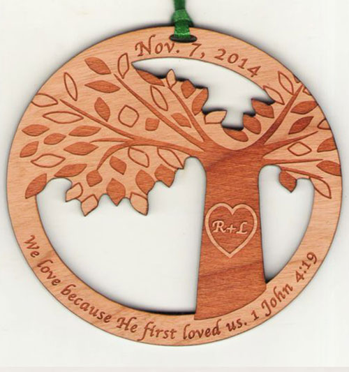 Fundraiser Wood Ornament