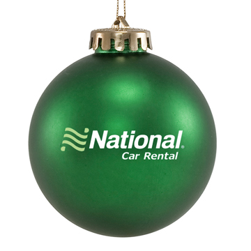 Custom Promotional Green Ornament