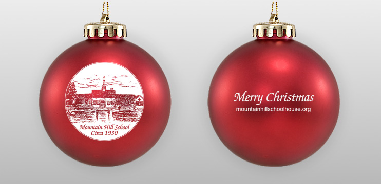 Acrylic Red Double Sided Ornament