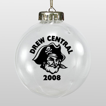 Acrylic White Pirate School Ornament