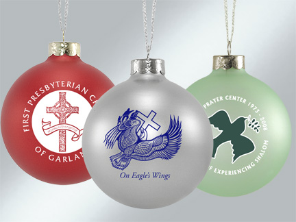Glass Church Logo Ornaments
