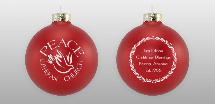 Custom Double Sided Church Glass Ornament