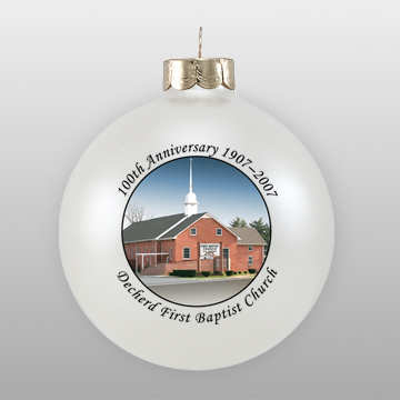 Custom Glass Church Anniversary Ornament