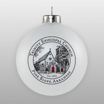 Custom Glass Episcopal Church Sketch Ornament