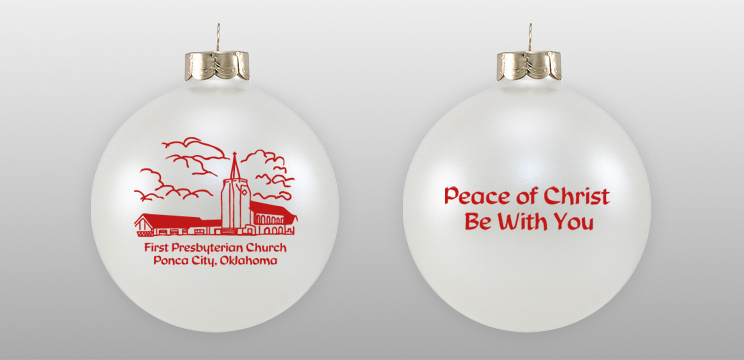 Custom First Presbyterian Church Sketch Ornament