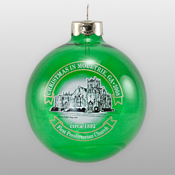 Transparent Glass Custom Ornament