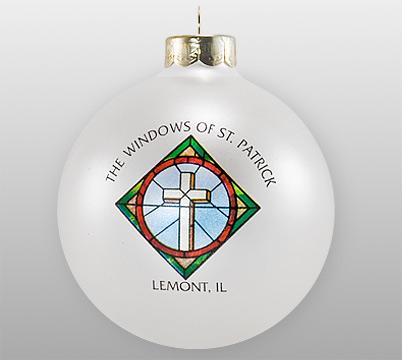 Custom Glass Church Window Ornament