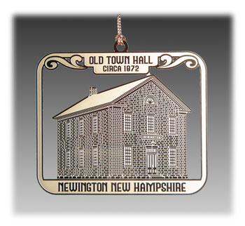 Custom Brass Landmark Ornament