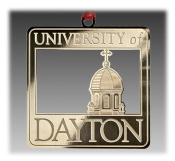 Custom Brass University Ornament