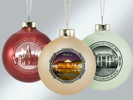 Custom Glass Landmark Ornaments