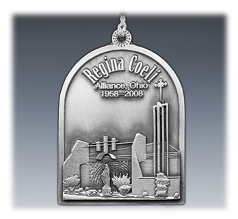 Custom 3D Pewter Ornament