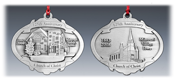 3D / 2D Pewter Ornament