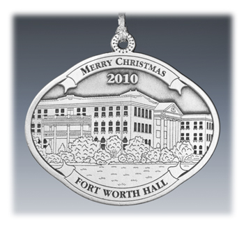 Custom 2D Pewter Landmark Ornament