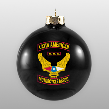 Custom Glass Black Ornament