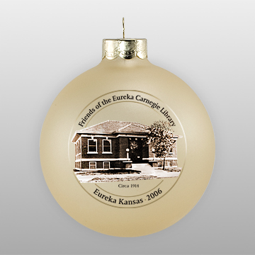 Gold Personalized Landmark Ornament