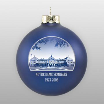 Navy Personalized Landmark Ornament