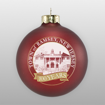 Maroon Personalized Landmark Ornament