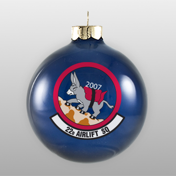 Dark Blue Military Personalized Ornament