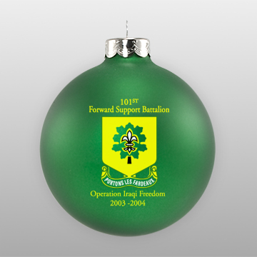 Matte Green Custom Military Glass Ornament