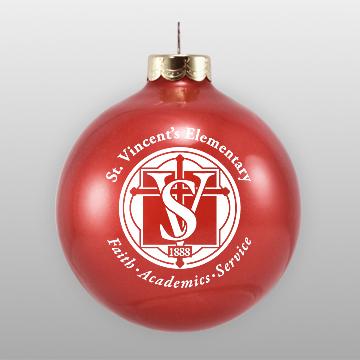 Custom School Fundraising Glass Ornament