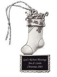 Custom Pewter Stock Design Stocking